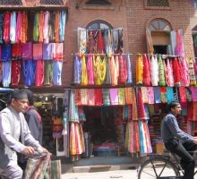 Clothes for sale in Kathmandu