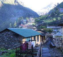 A small village scene