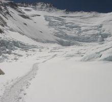 Heading up the Western Cwm towards the Lhotse face