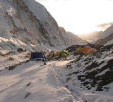 Camp 2 at dusk