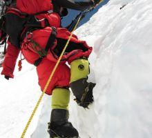 Hard work climbing on Mt Everest