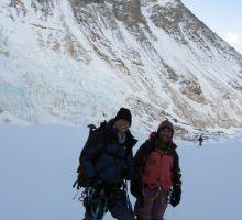 Paul and Fiona near camp 2 on Everest