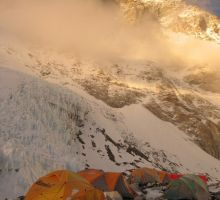 Camp 2 looking up towards the South Summit of Everest