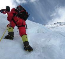 Mingma and Fiona on the Lhotse Face