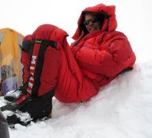 Paul resting at camp 3