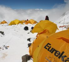 Our tents at camp 4
