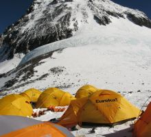 Looking up towards the South Summit of Everest from camp 4