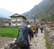 Inching our way closer to Everest basecamp