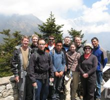 The group of trekkers and climbers heading in with Paul this time (2007)