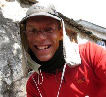 Paul trekking into Everest basecamp