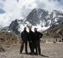 Paul, Damien & Tim on the trek into Everest basecamp