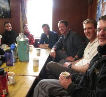 Enjoying a rest and lots of Sherpa tea in one of the teahouses