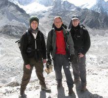 Damien, Paul & Tim on the Khumbu glacier