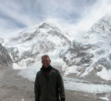 Paul with Mt Everest in the background (from Kala Patar)