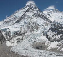 Mt Everest and the Khumbu Glacier