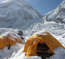 Everest basecamp after a big snowfall