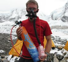 Paul testing out the oxygen system