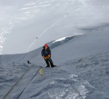 Paul heading up the Lhotse Face on Everest