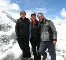 Marg, Fiona and Paul at Everest basecamp