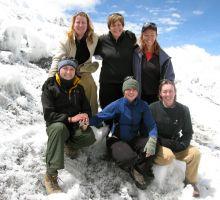 Julia, Denise, Marg, Beck, Fiona and Liz at Everest basecamp