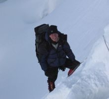 Paul climbing up to the high camps on Everest