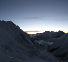 Low clouds at dusk on Everest - taken from camp 3