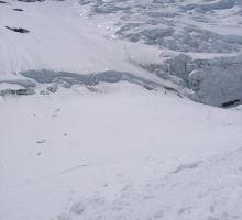 The Lhotse Face - the tiny people are Paul and Dasona