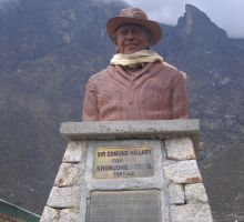 The Edmund Hillary memorial near the first school he built in Khumjung