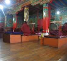 Inside the Tengboche temple