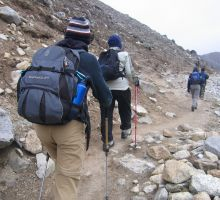 The trek into basecamp