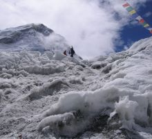 The very start of the icefall from basecamp