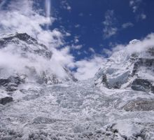 A view of the Everest Icefall