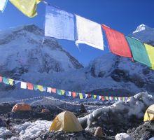 Prayer flags at Everest basecamp