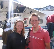 Fiona and Paul landed in Kathmandu - back in thick air!