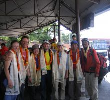 The whole group was presented with Kata scarves