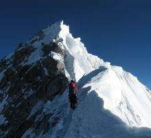 The final part of the Everest summit ridge