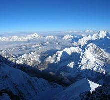 Surrounding mountains from Everest