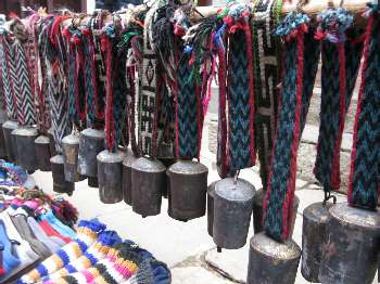 Yak bells for sale in Namche Bazaar. Photo Paul Adler.